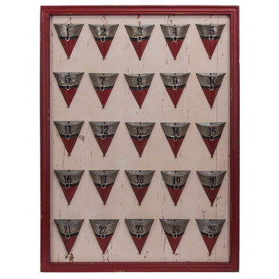 Advent Calendar with Santa Outfit Cones
