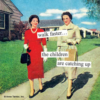 Walk Faster the Children (Beverage Napkin)