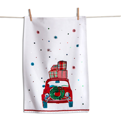 Whimsy Car Dish Towel