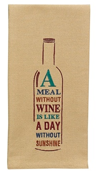 A Meal Without Wine Dish Towel