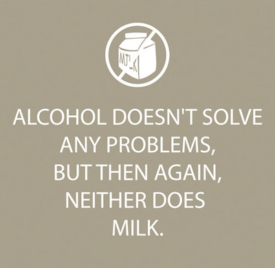 Alcohol Doesn't Solve (Beverage Napkin)