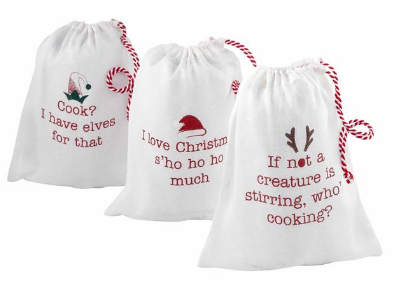 Christmas Apron in Bag