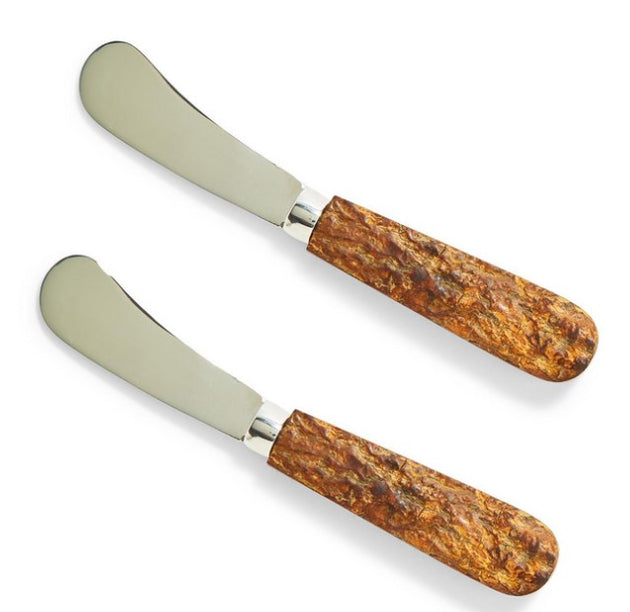 Bark Handle Spreaders (Set of 2)