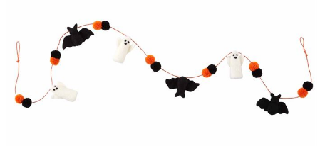Ghost Bat Halloween Garland
