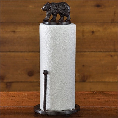 Cast Bear Paper Towel Holder