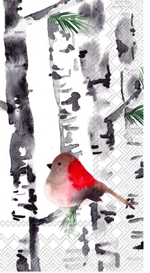 Bird in Birch (Guest Towel)