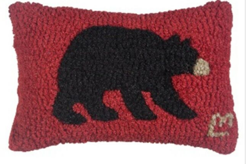 Black Bear Wool Pillow