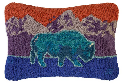 Blue Bison Wool Pillows
