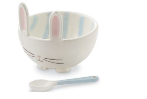 Blue Bunny Candy Bowl Set w/ Spoon