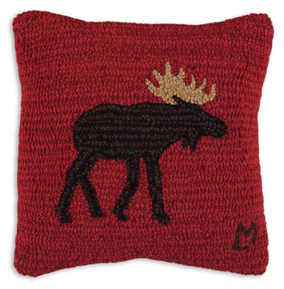 Brown Moose Wool Pillow