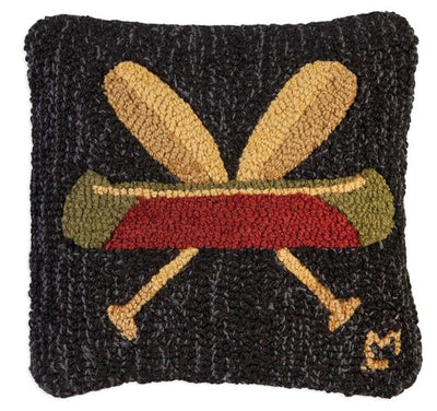 Canoe and Paddles Wool Pillow