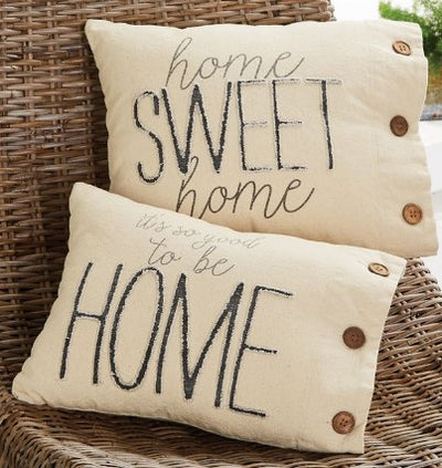 Home  Canvas Pillow