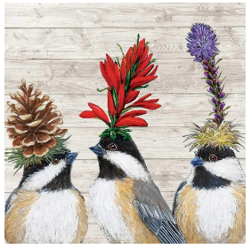 The Chickadee Sisters (Beverage Napkin)