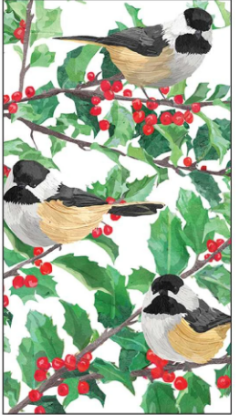 Yuletide Chickadees (Guest Towel)