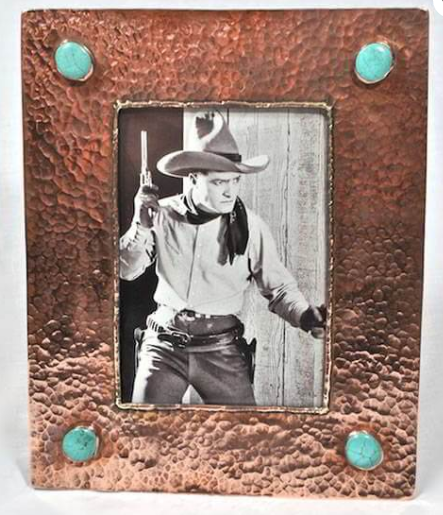J. ALexander 5x7 Copper Frame with Turquoise