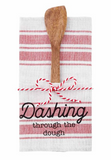 Christmas Dish Towel and Wood Utensil Set
