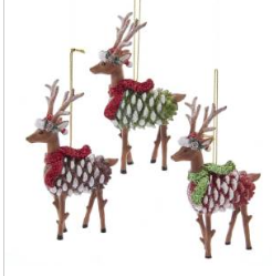 Pinecone Deer  Ornament