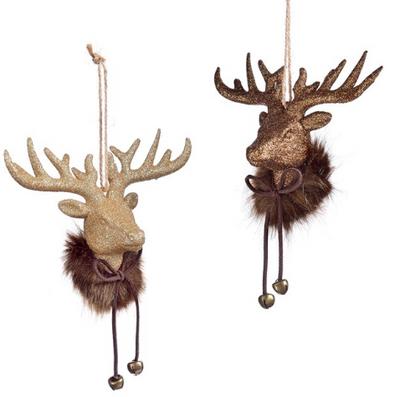 Glitter Deer Head Ornament