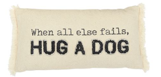 Hug Washed Canvas Dog Pillow