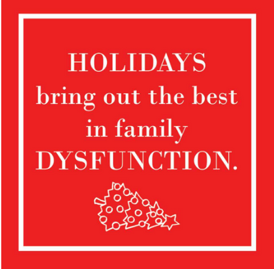 Holidays Dysfunction (Beverage Napkin)