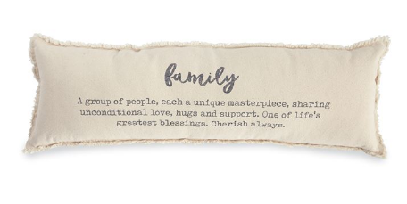 """Family"" Definition Washed Canvas Pillow"