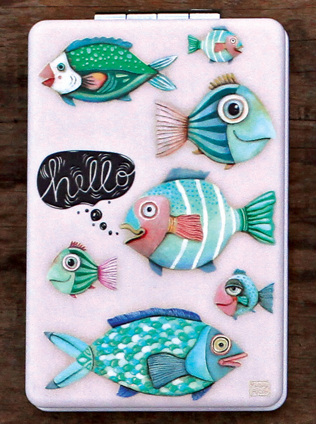 Hello Fish Compact Mirror