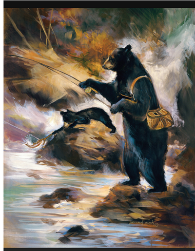 """The Fly Fisherman"" Gallery Wrap"