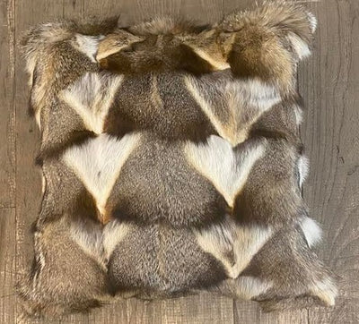 Fox Leg Hide Fur Pillow