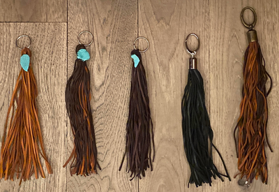 Leather Fringe Key Ring