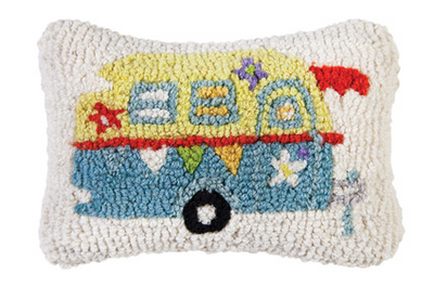 Lil' Camper Glamper Wool Pillow