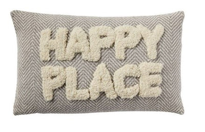 Happy Place Tufted Pillow