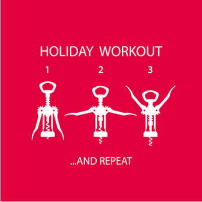 Holiday Workout (Beverage Napkin)