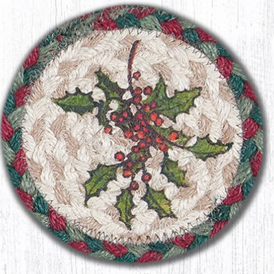 "Holly Capitol Earth 5"" Coaster"
