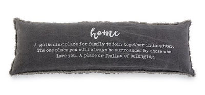"""Home"" Definition Washed Canvas Pillow"