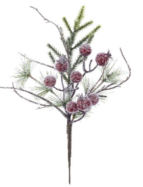 Iced Pine with Red Berry Pick