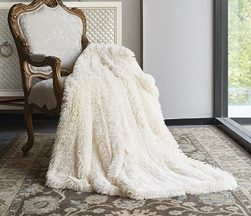 Ivory Ombre Luxury Plush Throw