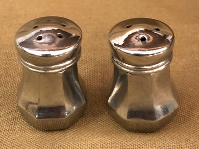Mini Pewter Salt and Pepper Shakers