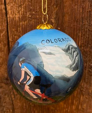Mountain Biker Colorado Ornament