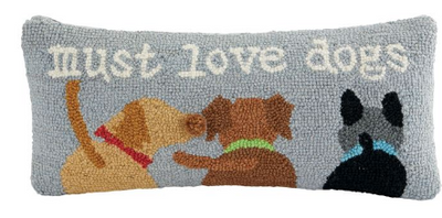 Must Love Dogs Wool Pillow
