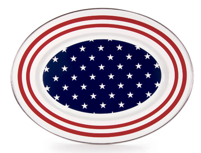 Stars and Stripes Oval Platter