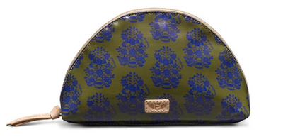 Consuela Olive Wallpaper Cosmetic Bag