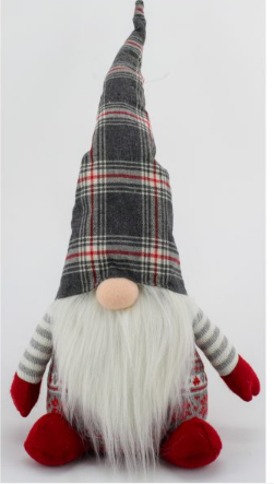 Plaid Hat Table Sitter Gnome