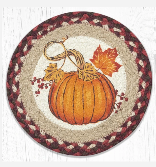 "Autumn Pumpkin 10"" Capitol Earth Mat"