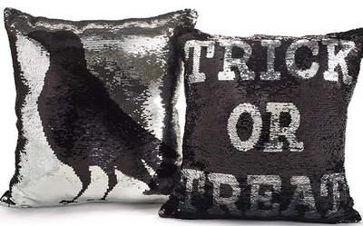 Sequined Halloween Pillow