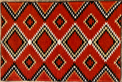 Red and Black Jacquard Placemat