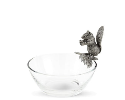 Squirrel Glass Nut Bowl