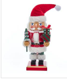 Santa with Gifts Nutcracker