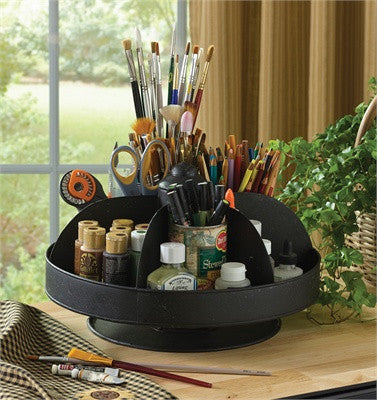 Single Tier Black Small Organizer Lazy Susan