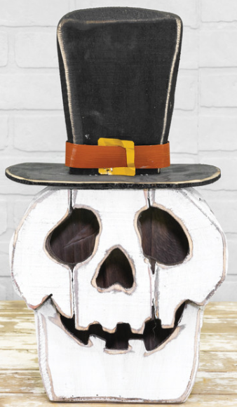 Halloween Top Hat Skull