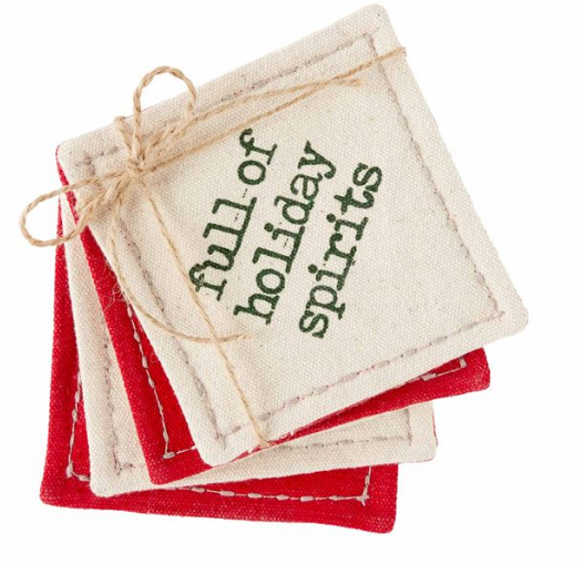 Canvas Holiday Coasters